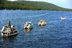 The 2021 Boat Parade on Deep Creek Lake