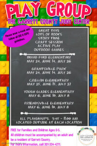 The Garrett County Judy Center - Playgroup