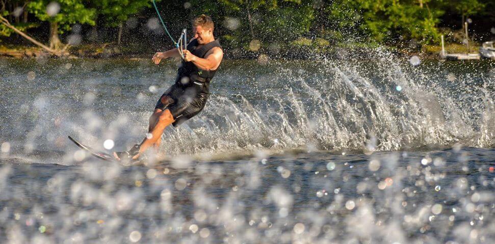 Tiffany Harris Waterskiing at Deep Creek Lake, MD