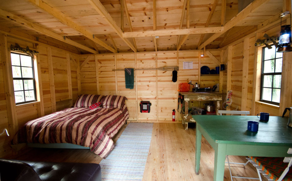 Wild Yough Glamping Hut Interior