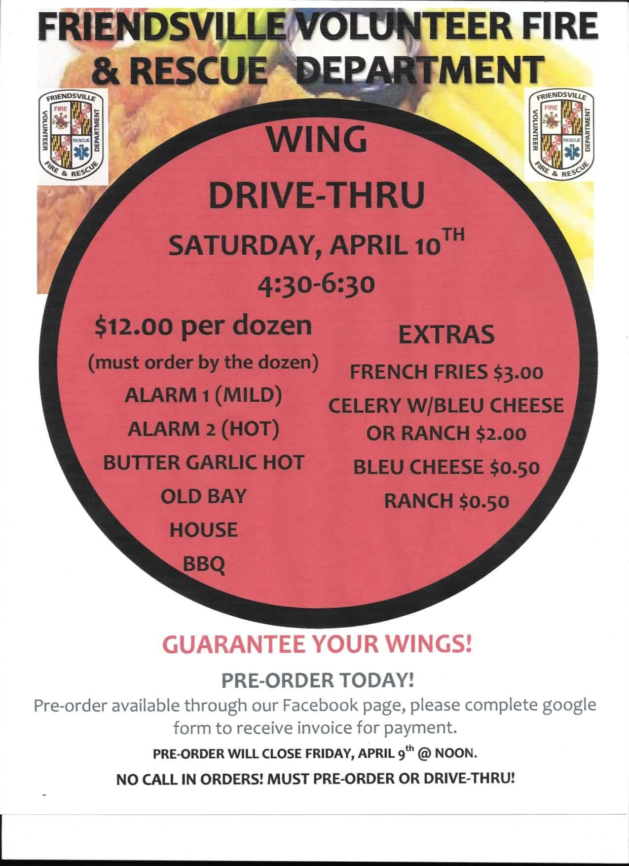 Wing Night Drive -Thru