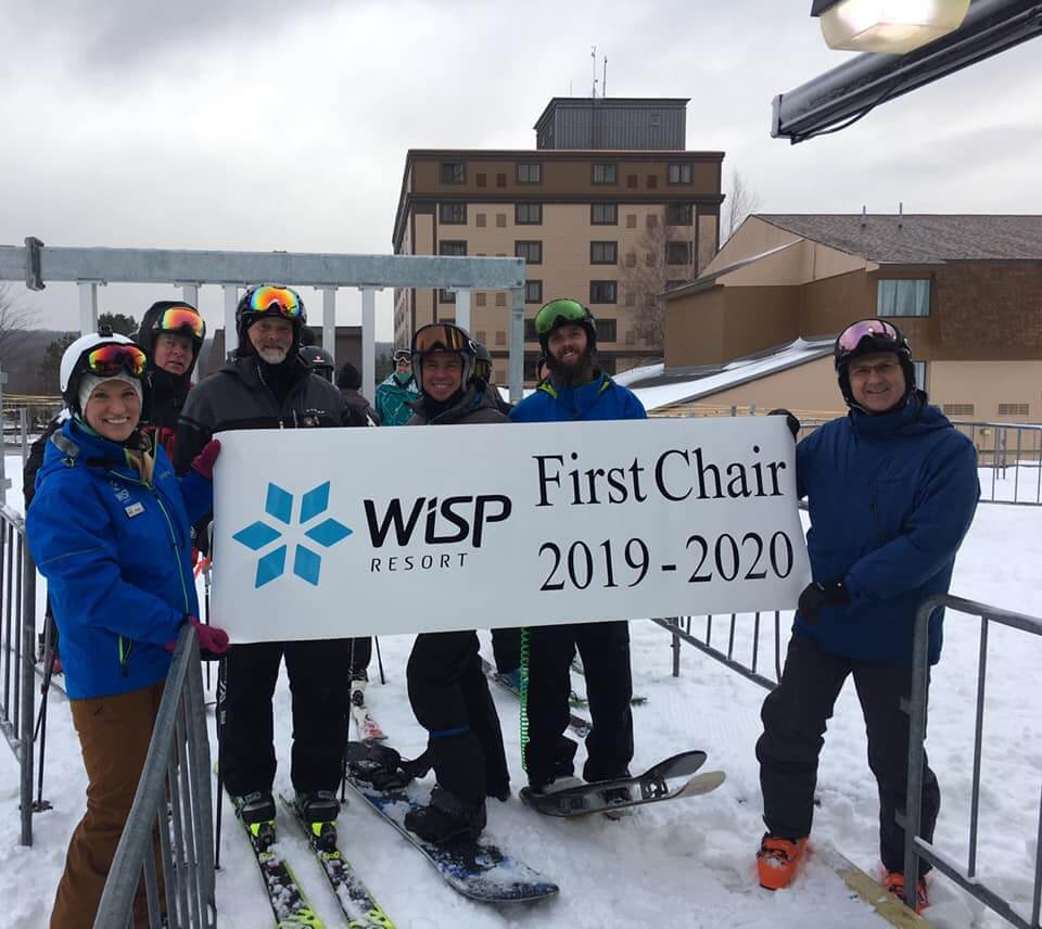 Wisps First Chair at Deep Creek Lake, MD 2019-2020