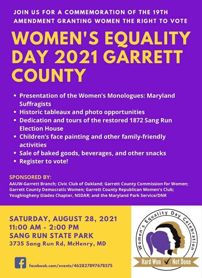 Women's Equality Day 2021 Garrett County