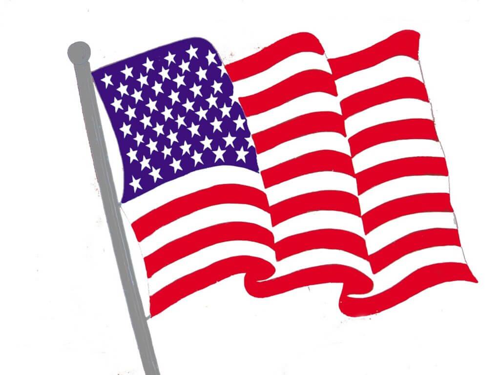 american flag clip art