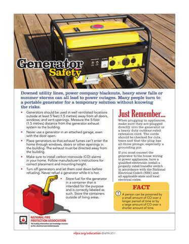 Maryland Generator Safety