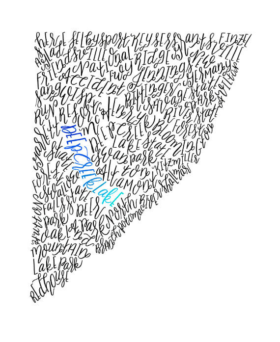 Coastal Lettering Garrett County Print