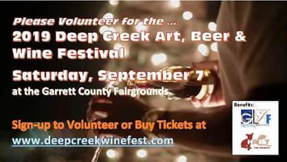 Volunteer at the Deep Creek Art, Beer & Wine Festival