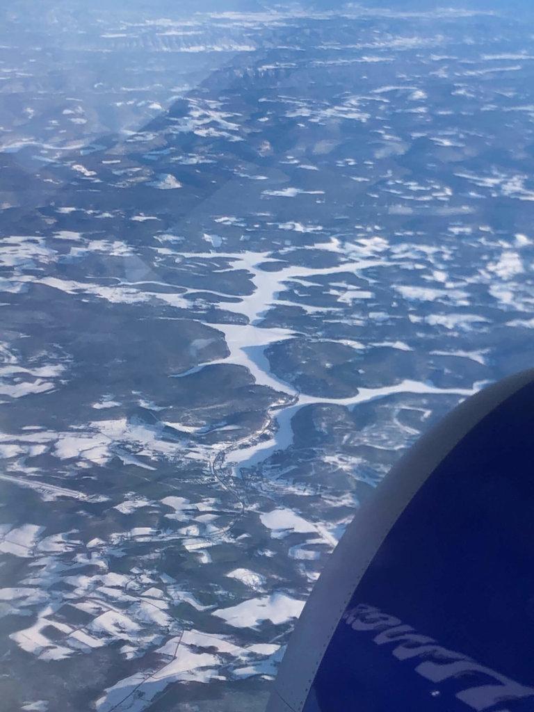 Deep Creek Lake, MD from Mark Richards at 30,000 Feet