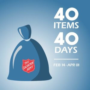Donate 40 Items for 40 Days